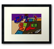 HORROR BOARD GAME Framed Print