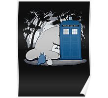lazy totoro police box Poster