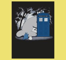 lazy totoro police box One Piece - Short Sleeve