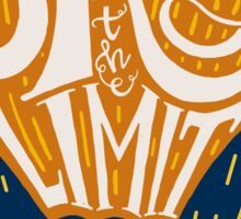 Sky is the limit hand drawn illustration Sticker