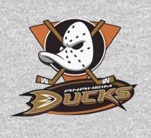 Anaheim Mighty Ducks coklate logo One Piece - Long Sleeve
