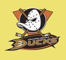 Anaheim Mighty Ducks coklate logo One Piece - Short Sleeve