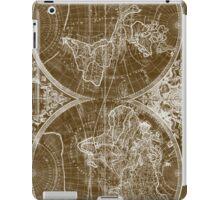 World Map (1691) Brown & White iPad Case/Skin