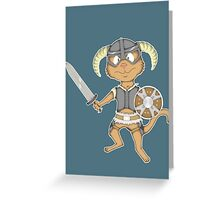 Littlest Khajiit Warrior Greeting Card