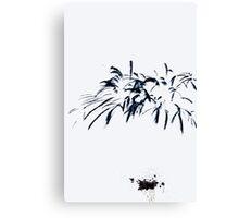 Fireworks Sumi-e Canvas Print