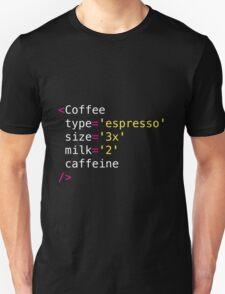 Developer mug: Coffee react component Unisex T-Shirt