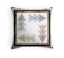 Art design geometric background, pattern, print. Throw Pillow