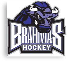Brahmas hockey logo Canvas Print