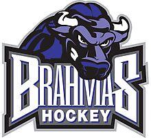 Brahmas hockey logo Photographic Print