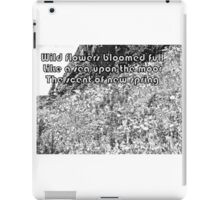 Color Your Own Wildflowers Haiku iPad Case/Skin