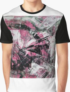 Time, Original mixed media painting, Huge monochrome Abstract Graphic T-Shirt