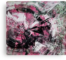 Time, Original mixed media painting, Huge monochrome Abstract Canvas Print
