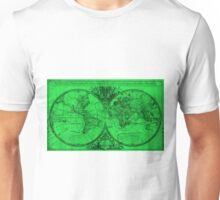 World Map (1691) Green & Black  Unisex T-Shirt