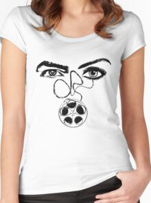 Film-Woman-Man-Eyes-Relationship  Women's Fitted Scoop T-Shirt