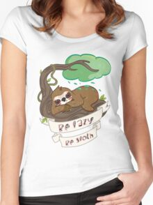 Be lazy Be Sloth ! Women's Fitted Scoop T-Shirt
