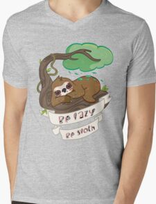 Be lazy Be Sloth ! Mens V-Neck T-Shirt