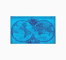 World Map (1691) Blue & Purple Unisex T-Shirt