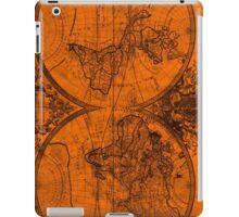 World Map (1691) Orange & Black iPad Case/Skin