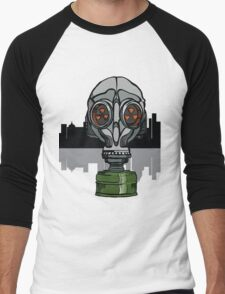gas mask Men's Baseball ¾ T-Shirt