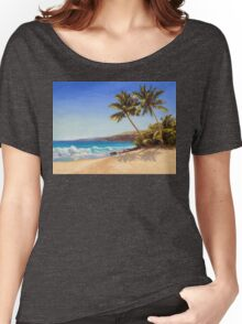 Big Island Getaway - Hawaiian Beach Seascape Women's Relaxed Fit T-Shirt