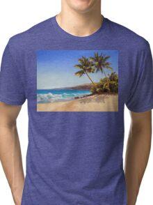 Big Island Getaway - Hawaiian Beach Seascape Tri-blend T-Shirt
