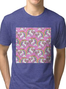 Unicorns pattern Tri-blend T-Shirt