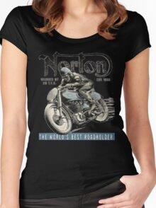 NORTON TT VINTAGE ART Women's Fitted Scoop T-Shirt