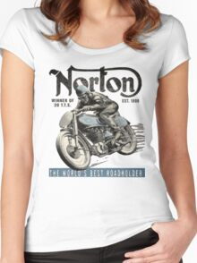 NORTON TT VINTAGE ART Women's Fitted Scoop T-Shirt