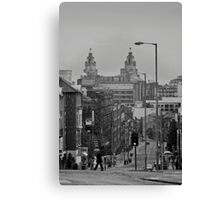 City from the cathedral Canvas Print