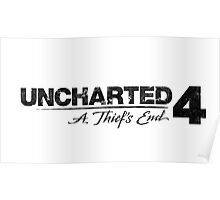 Uncharted 4 - Logo  Poster