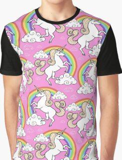 Unicorns pattern Graphic T-Shirt