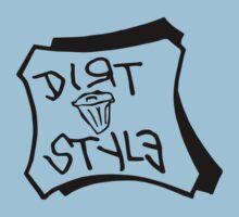 Dirt Style Records logo DJ Q-bert/Piklz One Piece - Short Sleeve