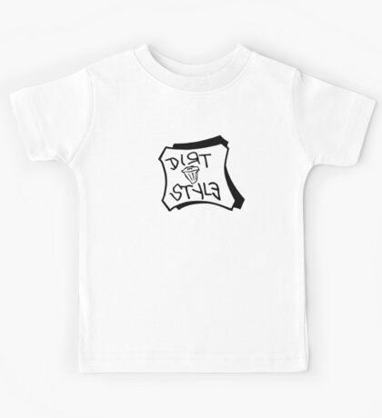 Dirt Style Records logo DJ Q-bert/Piklz Kids Tee
