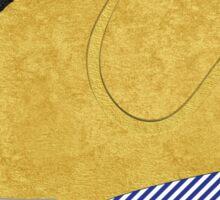 Preppy Golden Retriever Silhouette Sticker