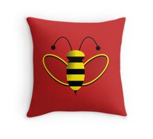 Animated Bumble Bee Throw Pillow