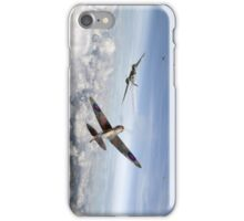 Spitfire attacking Heinkel bomber iPhone Case/Skin