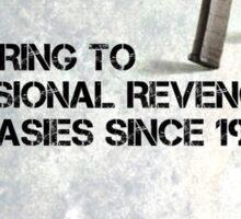 GUN AD SATIRE Sticker