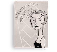 Flapper Canvas Print