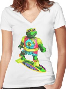 Psychedelic mikey Women's Fitted V-Neck T-Shirt