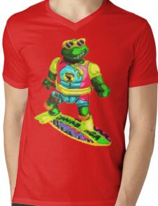 Psychedelic mikey Mens V-Neck T-Shirt