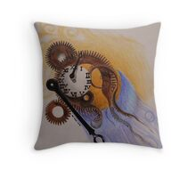 When time stops Throw Pillow