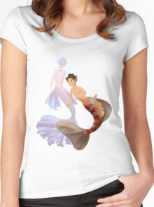 Gon and Killua mermaids Women's Fitted Scoop T-Shirt