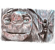 the neverending story film sketch Photographic Print