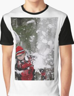 Falling Snow Graphic T-Shirt