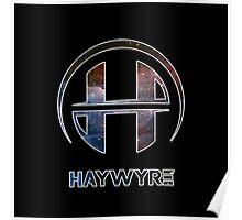 Haywyre Galaxy Print Logo HD TRANSPARENT Poster