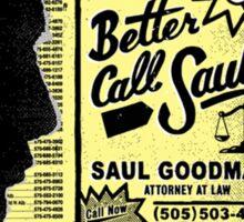 """""""Better Call Saul"""" Sticker"""