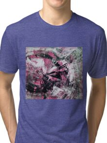 Time, Original mixed media painting, Huge monochrome Abstract Tri-blend T-Shirt