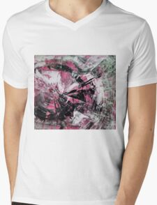 Time, Original mixed media painting, Huge monochrome Abstract Mens V-Neck T-Shirt