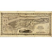 County of (Manhattan) New York Map (1836) Photographic Print