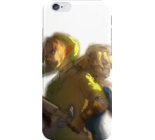 Link and Sheik ocarina of time iPhone Case/Skin